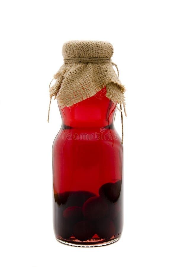 Sauerkirschenalkohol stockfoto