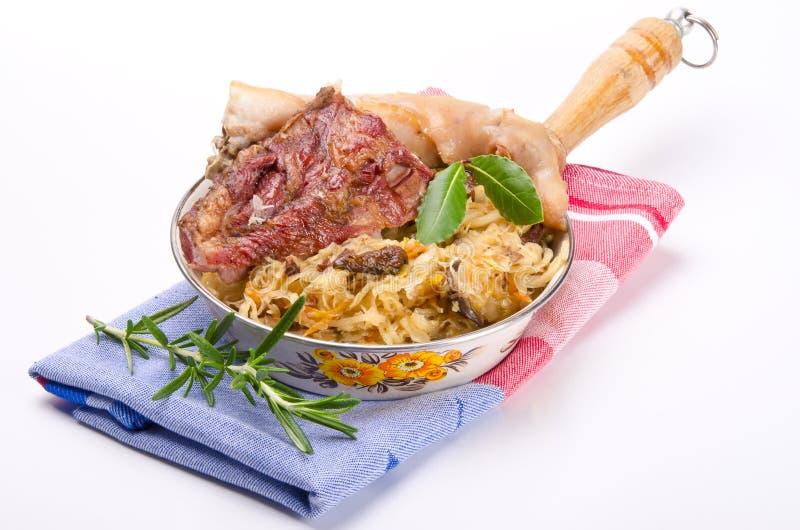 sauerkraut мяса курил стоковые фотографии rf