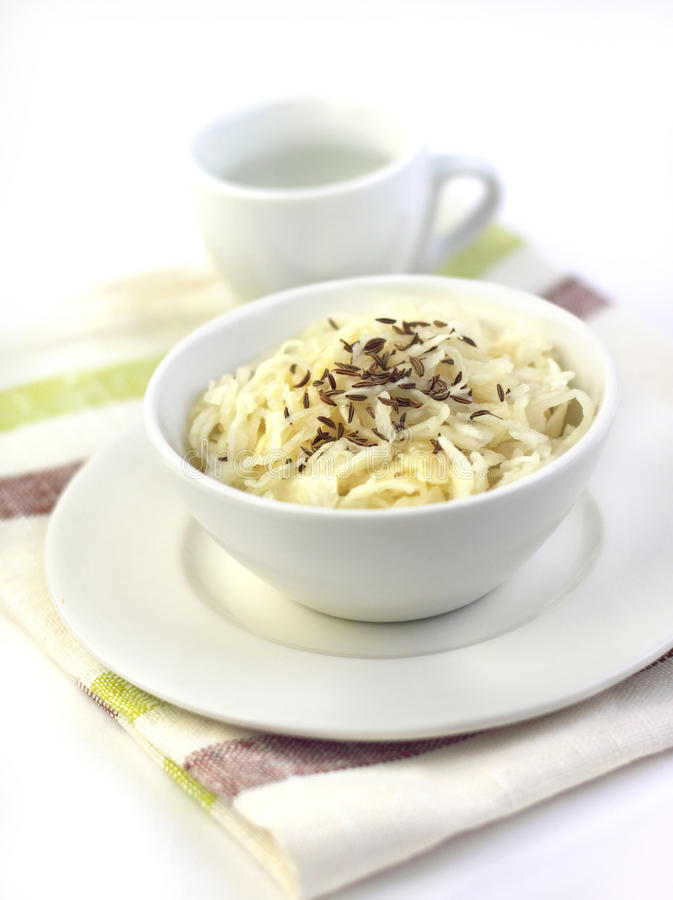 Sauerkraut с семенами тмина стоковые фото