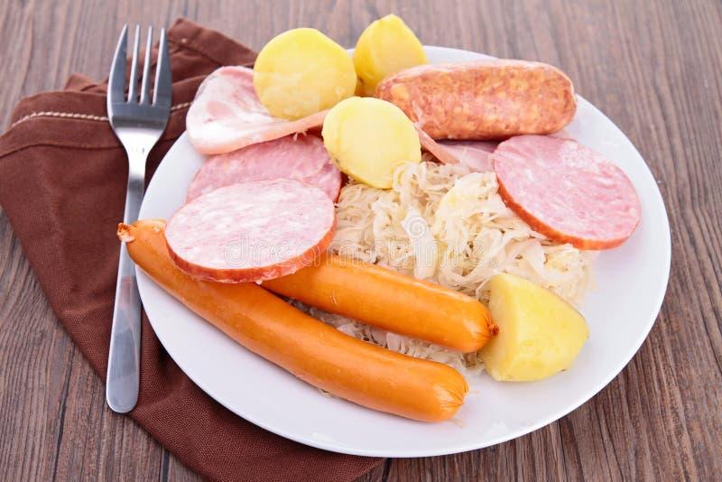 Download Sauerkraut stock photo. Image of choucroute, plate, sausage - 27823974
