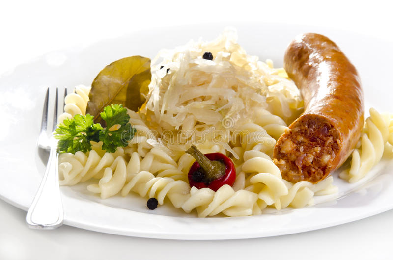 Sauerkraut With Noodle Royalty Free Stock Images