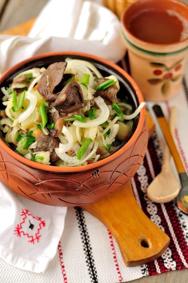 Free Sauerkraut, Potato And Mushroom Salad Stock Photography - 29062462