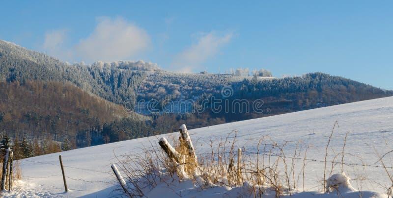 Sauerland no inverno imagens de stock