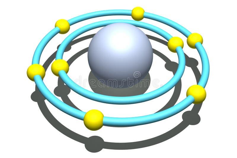 Sauerstoffatom auf weißem Hintergrund vektor abbildung