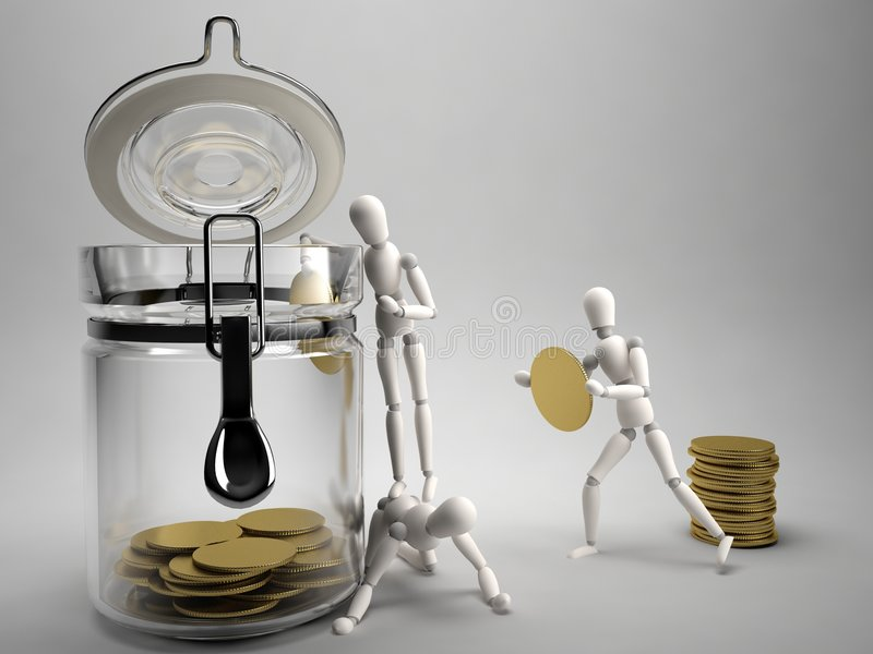 Sauf l'argent illustration libre de droits