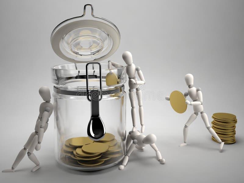Sauf l'argent illustration de vecteur