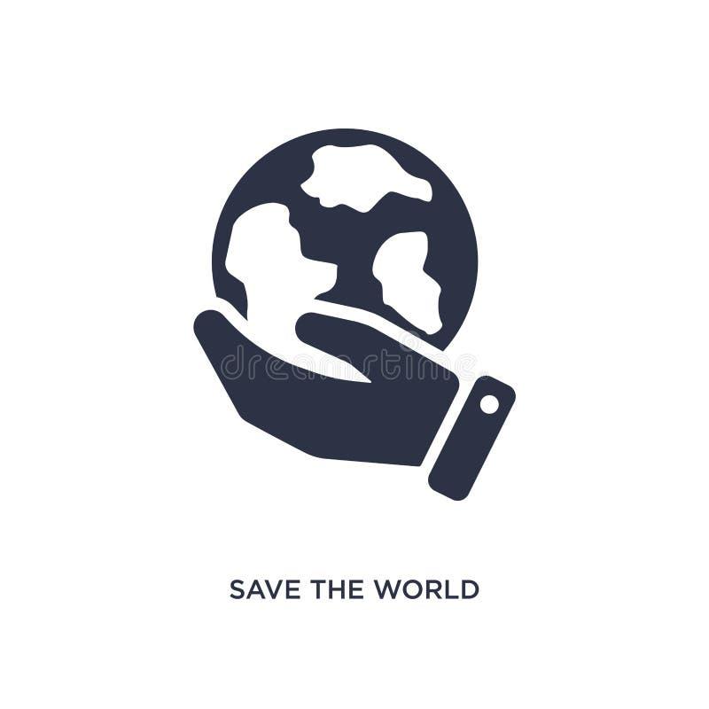 sauf l'icône du monde sur le fond blanc Illustration simple d'élément de concept d'écologie illustration libre de droits