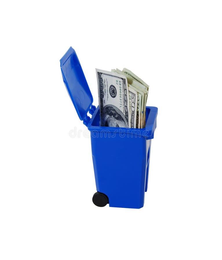 Sauf la réutilisation d'argent image stock