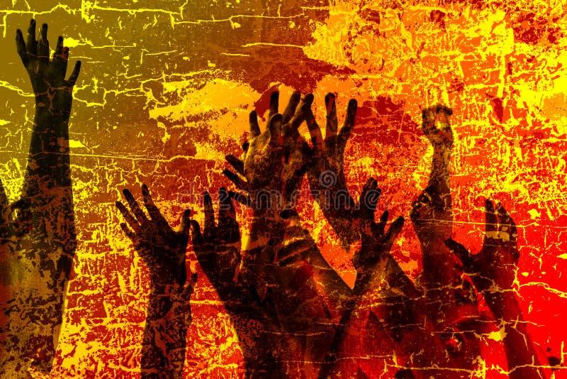 Sauf nous de l'incendie illustration libre de droits