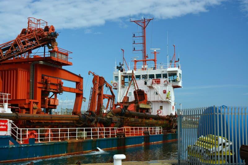 Saugbaggerschiff Das ACRO Dee bei Shoreham stockfoto