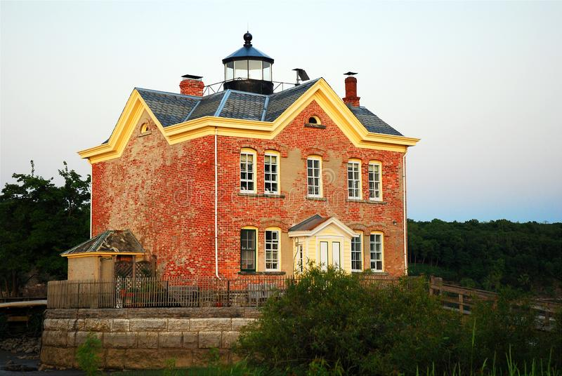 Saugerties Lighthouse New York royalty free stock photography