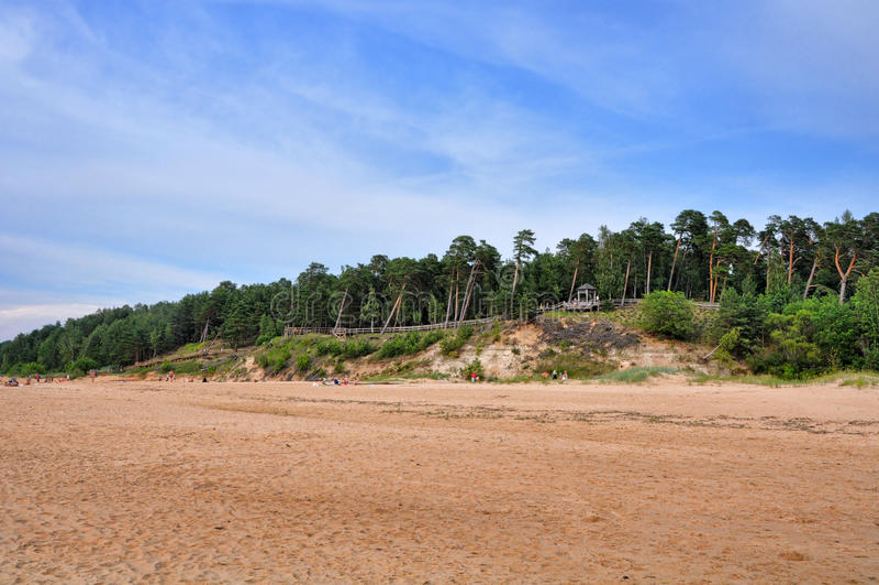 Saulkrasti Östersjön, Lettland arkivbilder