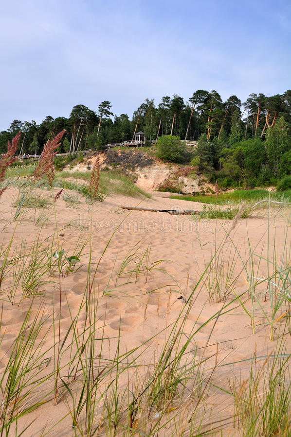 Saulkrasti, Baltic Sea, Latvia. royalty free stock photo