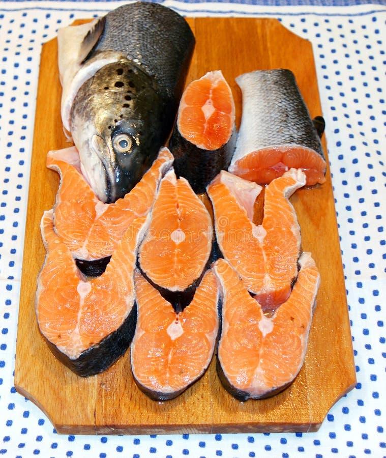 Saumons photographie stock