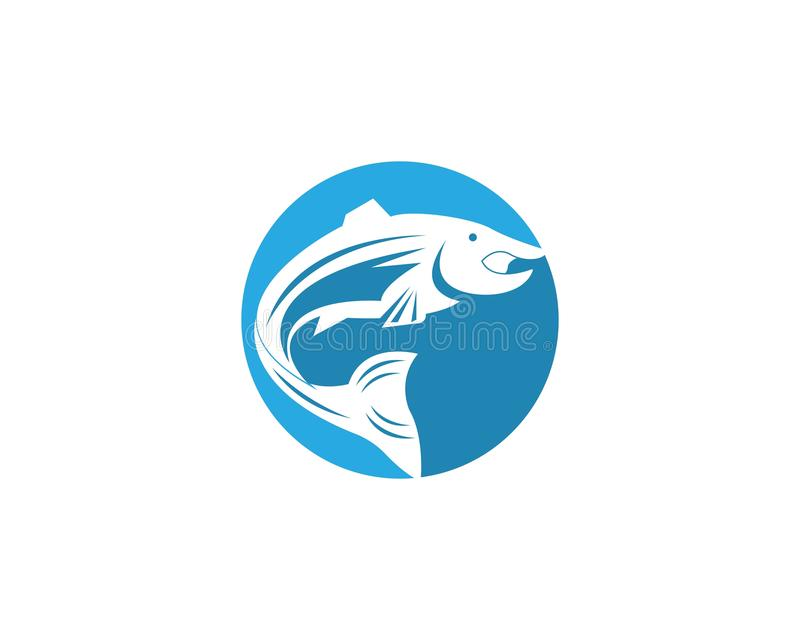 saumons de calibre de silhouette de vecteur de poissons illustration stock