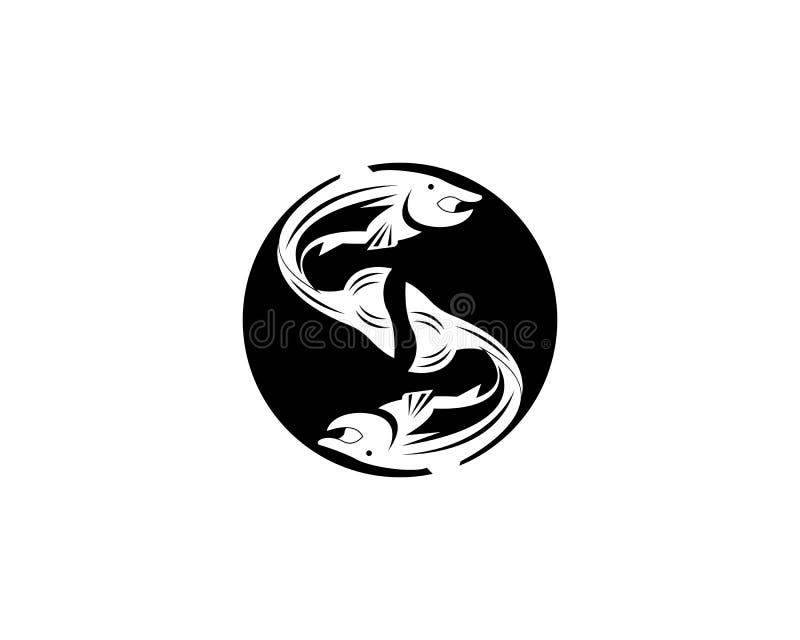 saumons de calibre de silhouette de vecteur de poissons illustration libre de droits