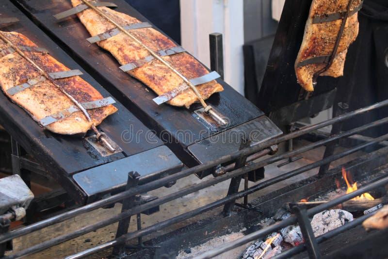 Saumons fumés photo stock