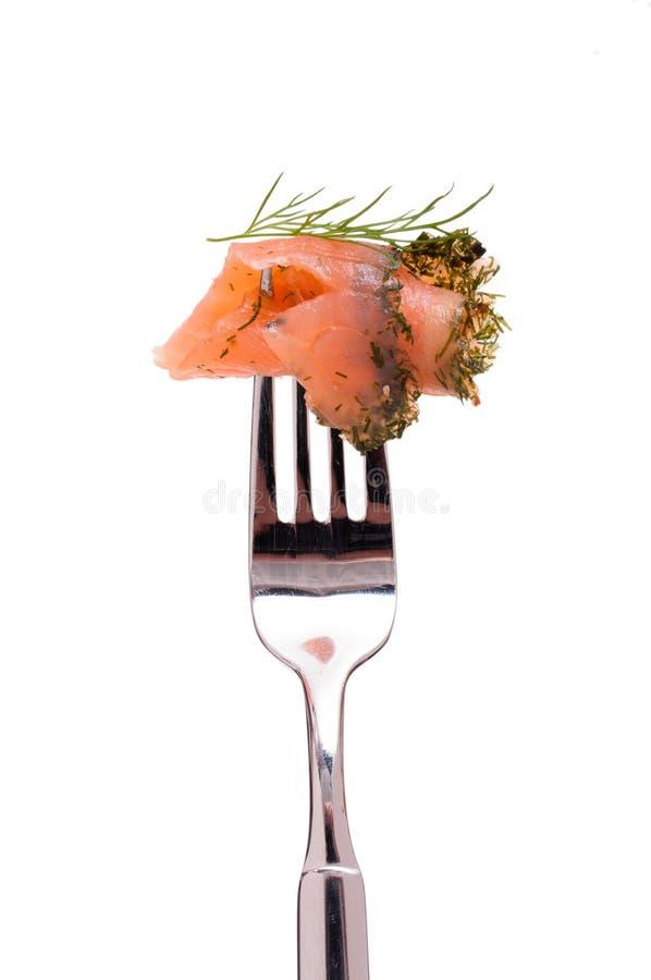 Saumons marinés avec l'aneth image libre de droits