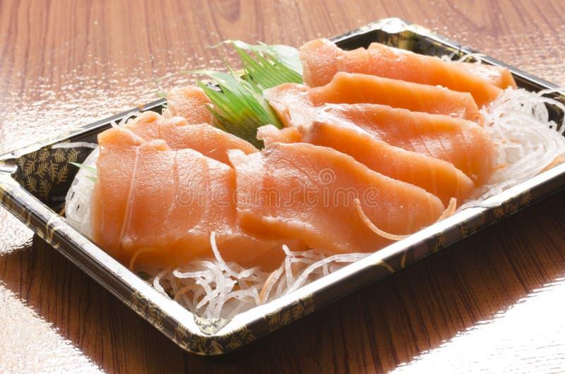 Saumons pour des sushi image libre de droits