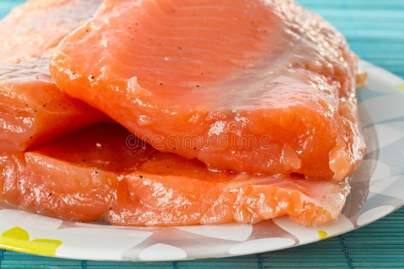 Saumons salés photo libre de droits
