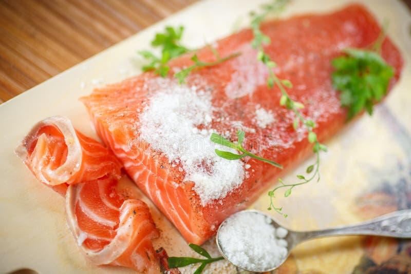 Saumons salés photos stock