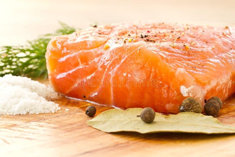 Saumons salés images libres de droits
