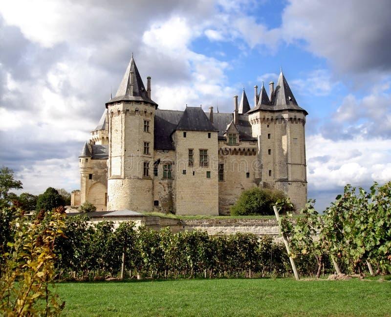 Saumur Chateau royalty-vrije stock afbeeldingen