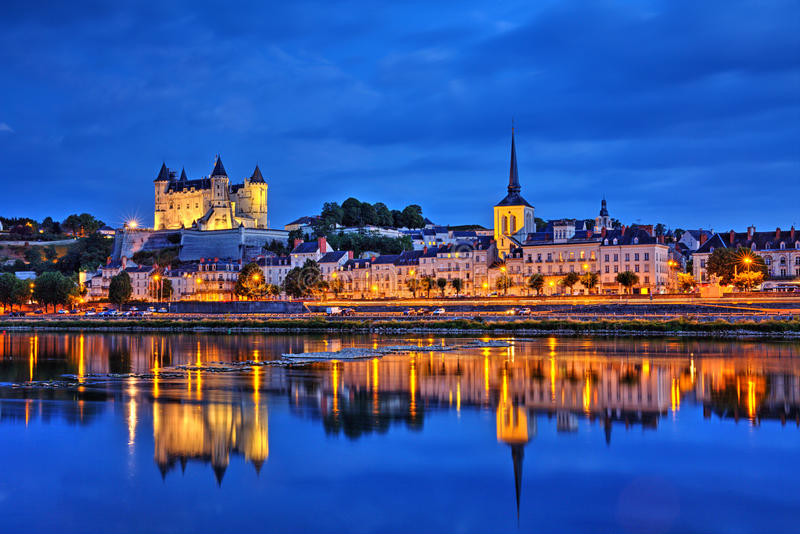 Download Saumur stock image. Image of hour, europe, sights, over - 69310999