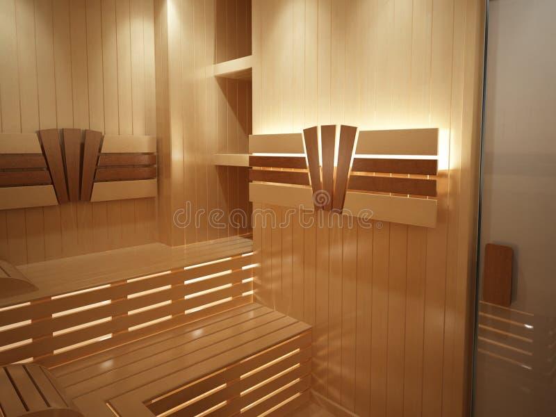 Sauna ilustración del vector