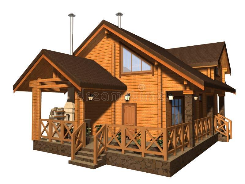 Sauna ilustração royalty free