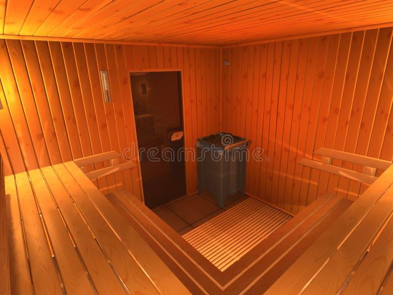 sauna ilustracja wektor