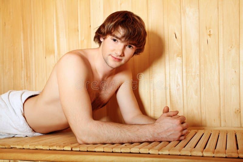 Sauna royalty-vrije stock afbeelding
