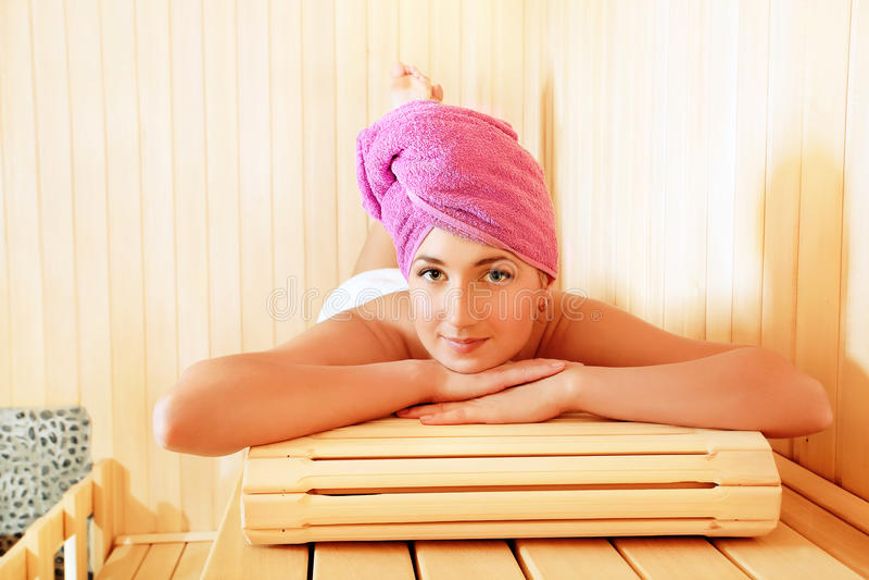Sauna imagem de stock royalty free