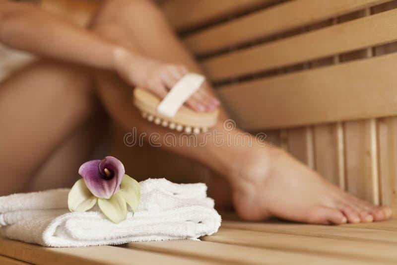 Sauna fotografia de stock