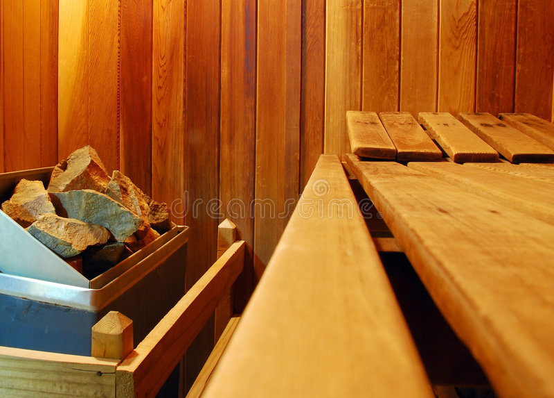Sauna foto de stock