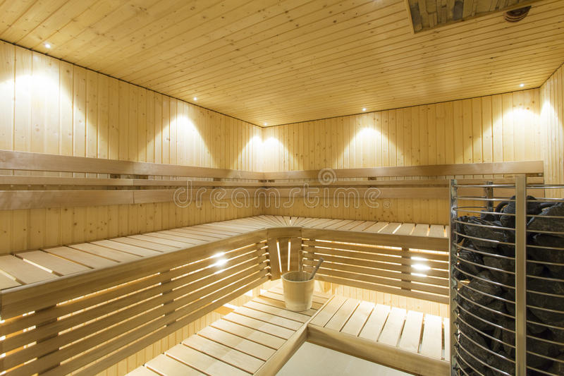 sauna foto de archivo