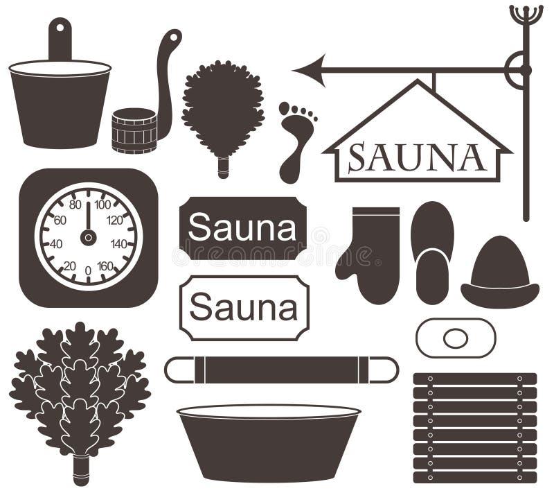 sauna ilustracji