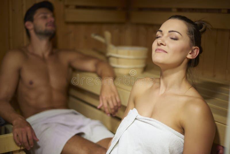 sauna foto de archivo libre de regalías