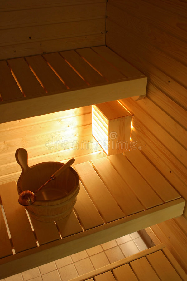 Download Sauna stock image. Image of sweat, bucket, lamp, temperature - 6988505