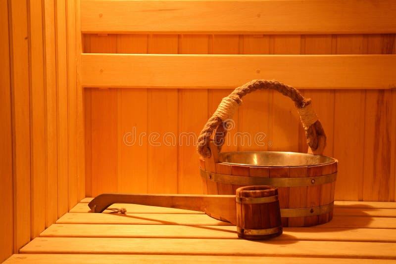 sauna fotografia stock