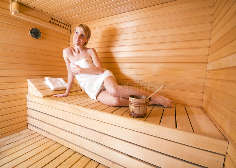 Download Sauna stock image. Image of temperature, female, beauty - 8098001