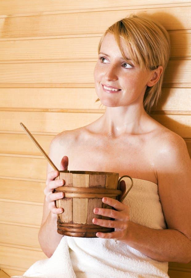Sauna fotografia de stock royalty free