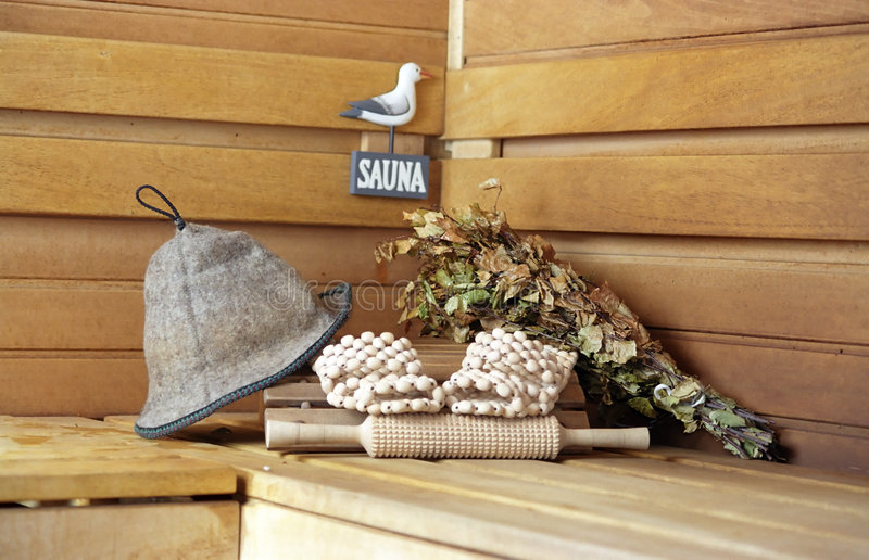 Sauna. All ready... stock images