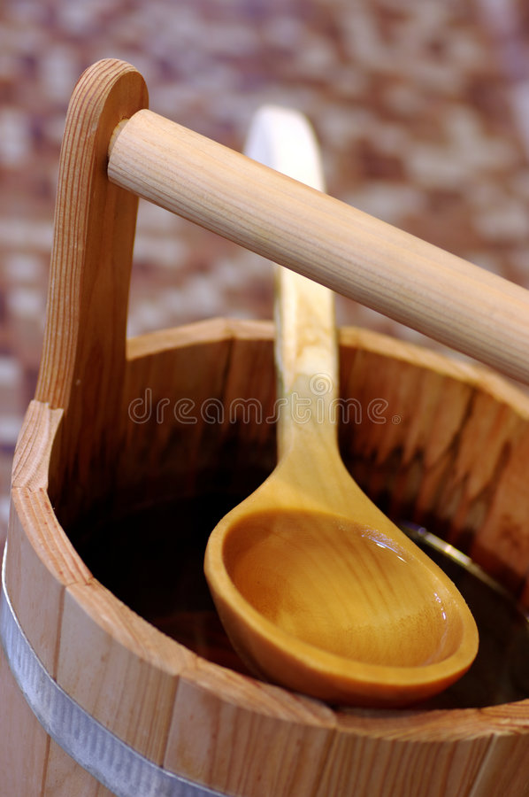 Sauna bucket royalty free stock photography