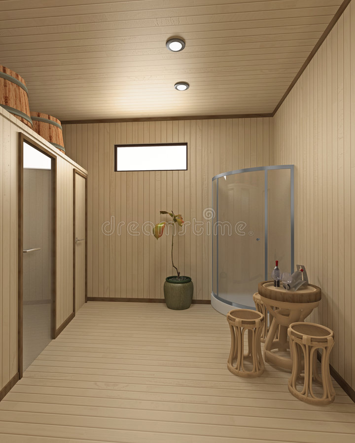 sauna d'inerior illustration de vecteur