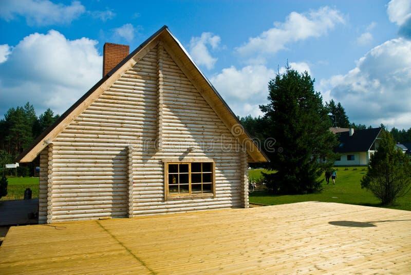 Sauna de maison de logarithme naturel images stock