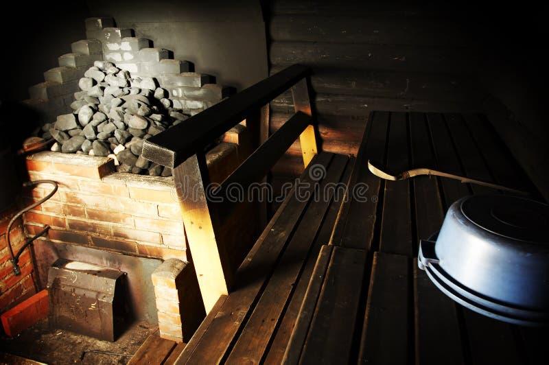 Sauna del fumo fotografia stock libera da diritti