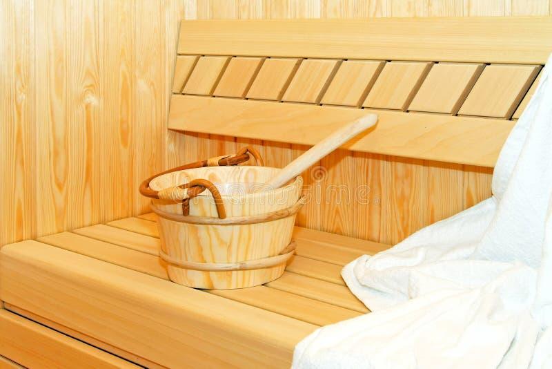 sauna della benna fotografie stock libere da diritti