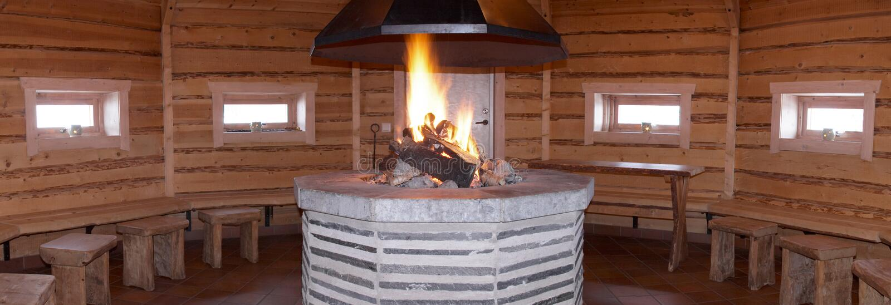 sauna drewna obrazy stock