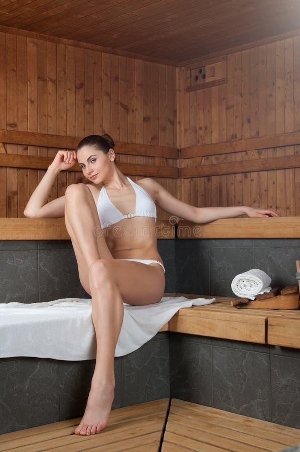 Sauna em termas fotografia de stock royalty free